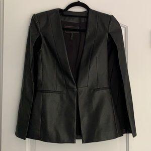 BCBG Maxazria Faux Leather Cape/Jacket